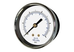 2 Quot Dry Pressure Gauge 0 200 Psi Back Mount 1 4 Quot Npt Michigan Air Solutions