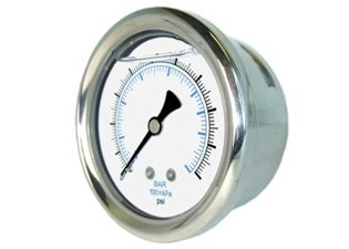 1 1 2 Quot Liquid Filled Pressure Gauge 0 30 Psi Back Mount 1