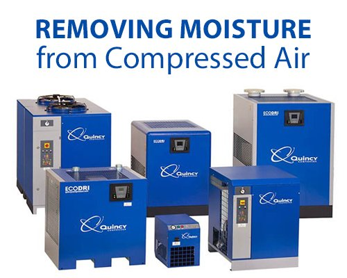 How to remove moisture from compressed air lines